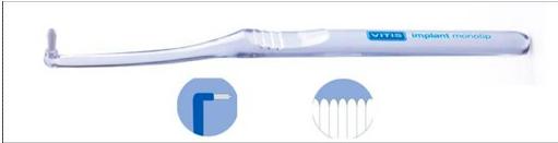 Зубная щетка для имплантов Vitis Implant Monotip (МОНОПУЧКОВАЯ)