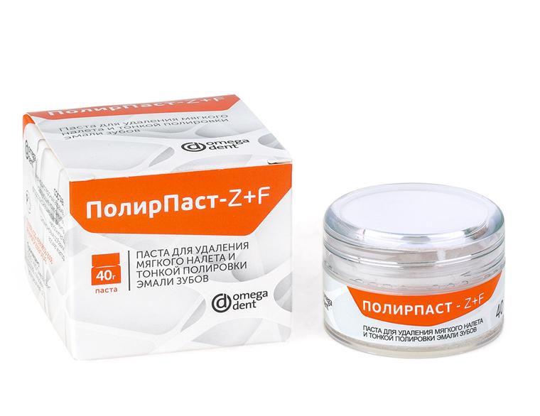 ПолирПаст Z+F, паста для удаления налета и тонкой полировки эмали зубов, 40гр.