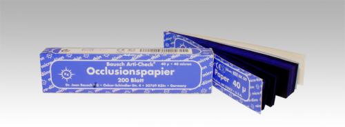 """ВК09 - артикуляционная бумага, синяя, 200 листов, 40мкр, """"Bausch"""", Германия"""