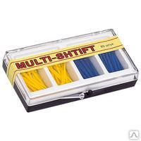 """Штифты беззольные """"MULTI SHTIFT"""" комплект по 40 шт. желтые и синие, уп. 80 шт"""