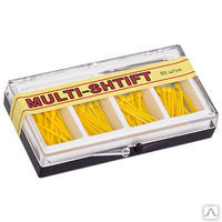 "Штифты беззольные ""MULTI SHTIFT"" комплект 80 шт. желтые 1,2 мм.,  1 развёртка Ф1,2 мм"