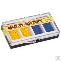 """Штифты беззольные """"MULTI SHTIFT"""" комплект по 40 шт. желтые и синие, 2 развёртки Ф1,2  Ф1,6 мм"""