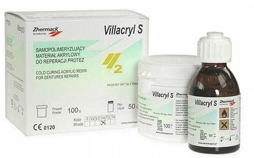 Виллакрил Эс - Villacryl  S, цвет V4  - пластмасса  холодной полимеризации для починок протезов