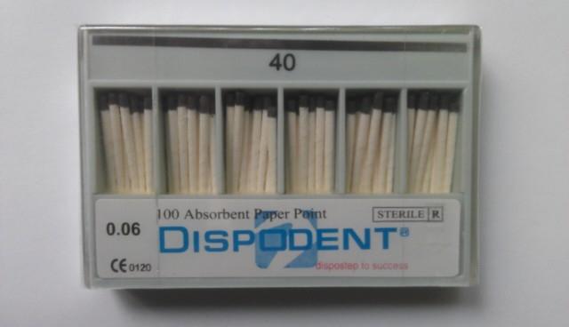 Бумажные штифты конусность 04 №20 (в уп. -100 шт)