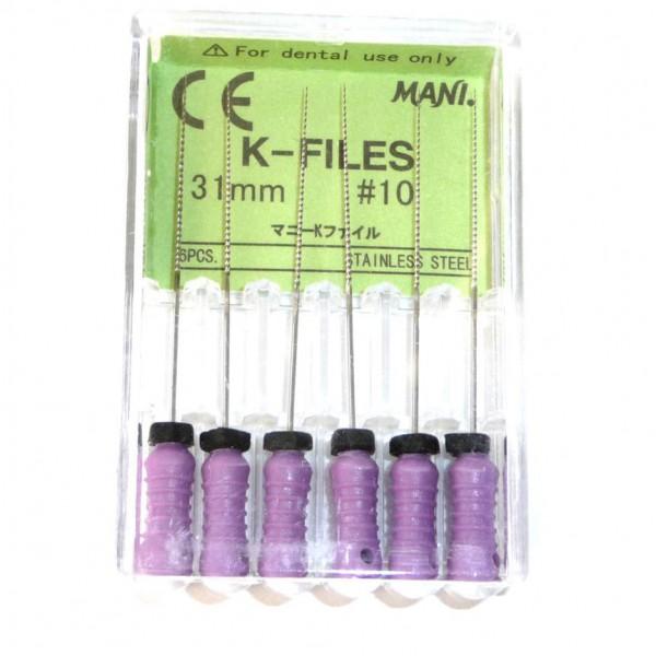 К - файлы MANI № 6 ( в уп. 6 шт.) - каналорасширитель ручной, длина 31 мм