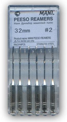 Пьезо Ример №2 - Peeso Reamers – корневые дрильборы машинные для углового наконечника, длина 32 мм