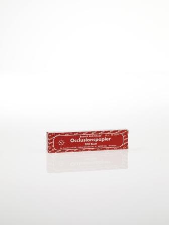 """ВК10 - артикуляционная бумага, красная, 200 листов, 40мкр, """"Bausch"""", Германия"""