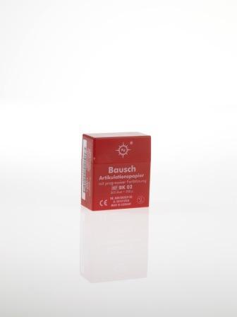 """ВК02 - артикуляционная бумага, красная, 300 листов, 200мкр, """"Bausch"""", Германия"""