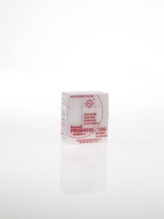 """ВК52 - артикуляционная бумага, красная, 300 листов, 100мкр, """"Bausch"""", Германия"""