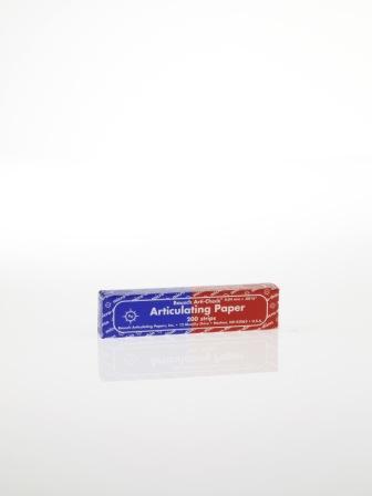 ВК80 - артикуляционная бумага, син/крас, 200 листов, 40мкр,104*20мм,