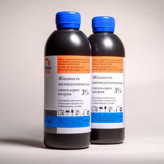 Жидкость Гипохлорит натрия 3%, 100мл,Технодент