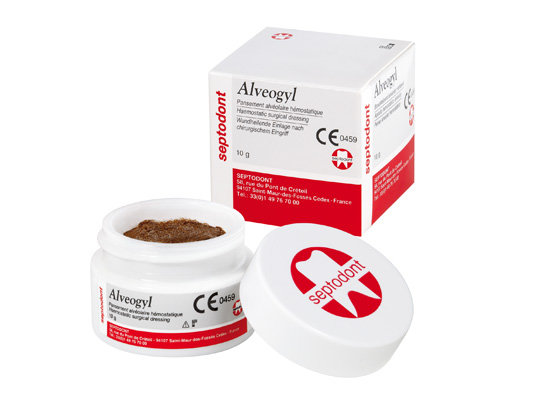 Альвеожил-Alveogyl-материал для обработки альвеол,десневых карманов и лунок